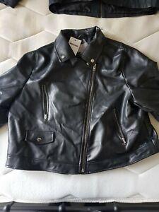 Asos Leather Look Biker Jacket NWT.