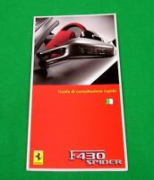 Ferrari F430 Spider - RARE Owners Handbook Supplement - 2005 - Italian Text Only