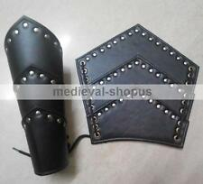New Roman Leather Arm Guards Medieval Reenactment Larp Vambraces Armour Pair