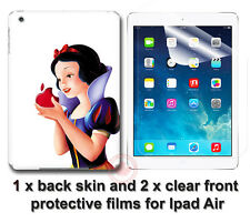 Snow White with Apple SKIN STICKER COVER and 2 protected films for iPad Air