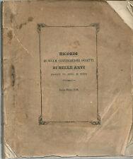Ricordi di Alcuni Considerevali Oggetti  Di Belle Arti 1853