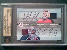 MARTIN BRODEUR / PATRICK ROY  AUTHENTIC DUAL AUTOGRAPH AND JERSEY /50 *SP*
