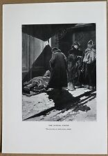 RUSSIA: OUTSIDE PORTER (DVORNIK), ST. PETERSBURG; lithograph, 1913 (#31)