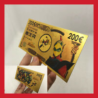 BILLET TICKET 200€ FIGURINE GOLDORAK GRENDIZER ACTARUS CARTE COLLECTOR GOLD OR