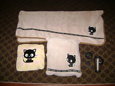 Collection of Sanrio Hello Kitty Chococat items - pillow, blanket, drink mug