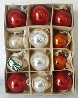 Weihnachtsschmuck Christbaumschmuck 12 Kugeln rot gold silber christmas tree