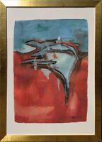 Annegret Leiner Wasserfarbe Papier Ohne Titel 80x60 cm Albert-Weisgerber-Preis