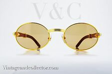 Sunglasses Cartier Wood Gold giverny vintage [53-22mm] TEMPLE :140 mm LARGE NEWS