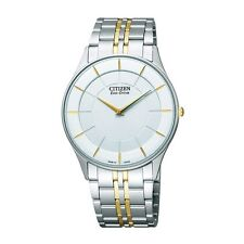 Citizen Eco Drive AR3014-56A Men Ultra Slim White Dial Stainless Steel Watch