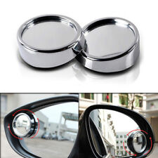 2pcs Silver HD 360° View Car Adjustable Blind Spot Wide Angle Rear Mirror #011