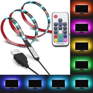 USB Powered Strip Lights RGB 5050 LED TV Background Bar Light Decoration