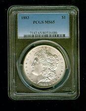 1883   $1   US Morgan Silver Dollar    PCGS   MS65                     A