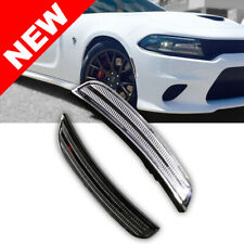 15-17 Dodge Charger Bumper LED Side Marker Light White LED Reflector Replacement