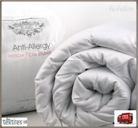 HOLLOWFIBRE DUVET SINGLE DOUBLE KING SIZE 13.5 TOG QUILT WAREM & COSY BEDDING