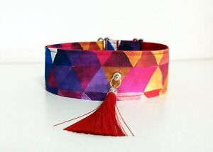 Collar Dog, width 5 cm lenght 30-40 cm for Saluki, Greyhound, Galgo, Ibizan
