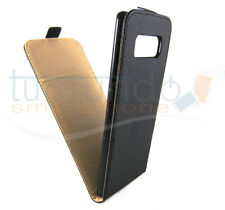 Funda de piel Premium negra Ultra-slim para Samsung Galaxy Note 8 Case