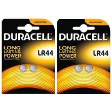 4 x Duracell LR44 1.5V Batteries LR 44 A76 AG13. (2 x 2 pack)