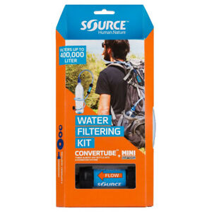 Source Ltd. Convertube+Sawyer Filter Wasserfilter/Trinksystem