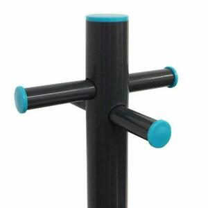 2.4M Washing Line Post Support Pole Dryer with Socket& PROPE LINE Clothes Laundr