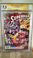 Superman: The Man Of Steel #19 CGC 7.5 AUTOGRAPHED by LOUISE SIMONSON