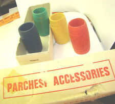 Rare Vintage  Made in Spain PARCHESI ACCESSORIES WOODEN COLORS BARROWS