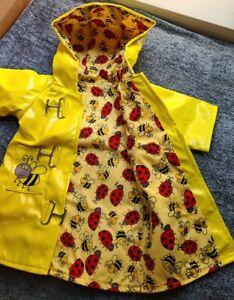 "New - Yellow Bumble Bee Raincoat  #892 - fits 18"" American Girl Dolls"