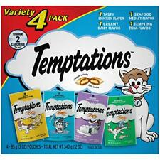 3 Packs Classic Cat Treats Feline Favorites Food Variety 4 Count 3 oz Pouches