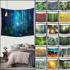 Birch & Forest Wall Hanging Tapestry Bohemian Hippie Throw Bedspread Dorm Decor