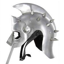 Medieval Helmet of the Spaniard Maximus Roman Gladiator 18 Gauge Replica