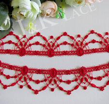 4.2 cm width Beautiful Red Venise Lace Trim