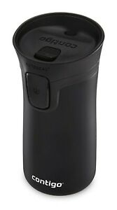 Contigo Autoseal Travel Mug 10oz Stainless Steel Matte Black Hot/Cold Insulated