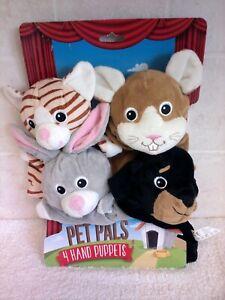 Pet Pals Animal Hand Puppets x4 New
