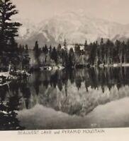 Postcard, Beauvert Lake Pyramid Mountain Canada Vintage P30