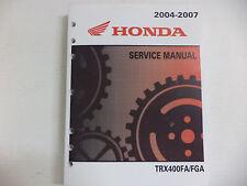 GENUINE HONDA SERVICE SHOP MANUAL RANCHER 400 TRX400 FA FGA 2004-2007