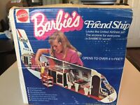 Vintage 1972 BARBIE FRIENDSHIP United Airplane | WITH DOLL , BOX & ACCESSORIES!