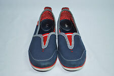 Keds Navy Blue w/ Red Accents Canvas Pull-On Fashion Sneakers Woman's Sz 8 M
