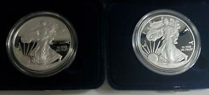 2020 & 2021 West Point American Eagle One Ounce Silver Proof Coins Type 1
