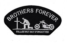 BROTHERS FOREVER FALLEN BIKER Embroidered Patch Iron Sew Logo Hardcore Emblem