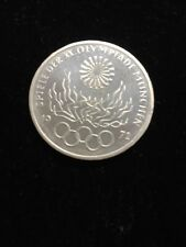 1972-F Germany Silver 10 Mark Munich Olympic Flames Uncirculated