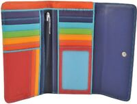 Mywalit Large Leather Trifold 11 Card Wallet Purse In Various Colours 269