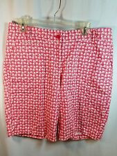 TALBOTS Shorts Size 10 Pink Angelfish Fish Bermuda Shorts Size 10  EUC