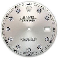 REFINED MENS SS DATEJUST SILVER DIAMOND DIAL RT FOR ROLEX-36