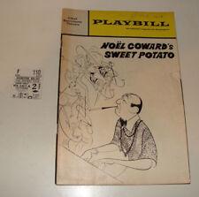 Noel Coward Sweet Potato 1968 NY Playbill, stub Grizzard Loudon Hirschfeld cover
