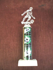 male Soccer trophy clear green theme award marble