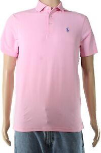 Polo Ralph Lauren Mens Shirt Classic Pink USA Size Large L Polo Rugby $85 183