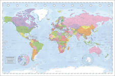 POLITICAL MAP OF THE WORLD MILLER PROJECTION 91.5 X 61CM MAXI POSTER