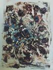 """""""COMPOSITION FLORALE"""" Huile sur papier d'EMERIC (VAGH-WEINMANN) 1958"""