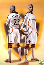 "DAVID BECKHAM ""DUAL IMAGE WEARING L.A. GALAXY COLORS"" POSTER-Football MLS Soccer"