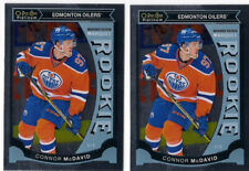2015-16 O-PEE-CHEE OPC PLATINUM 2-CARD #M1 CONNOR MCDAVID MARQUEE ROOKIE LOT RC