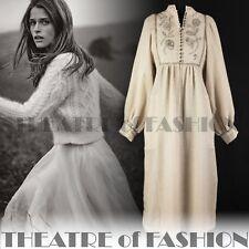 DRESS SMOCK 60s 70s VINTAGE WEDDING CELTIC VICTORIAN BOHO ANNA ROOSE GODDESS
